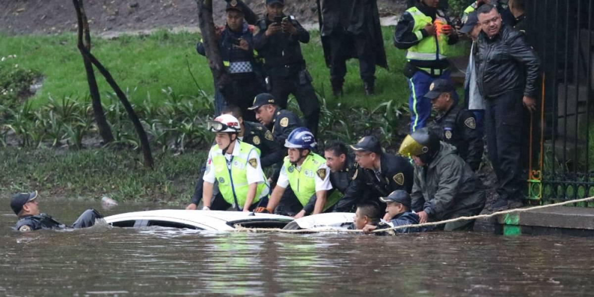 Circuito Interior, Polanco y Anzures, bajo el agua tras intensa tormenta en la CDMX