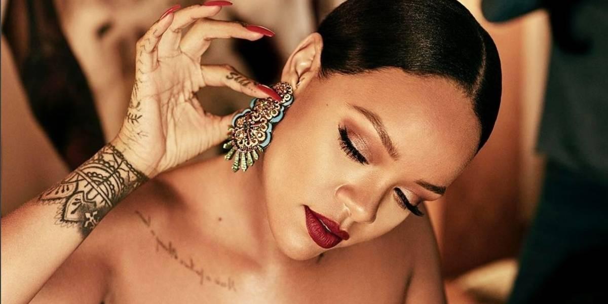 Rihanna se come a besos con un misterioso hombre y filtran las fotos