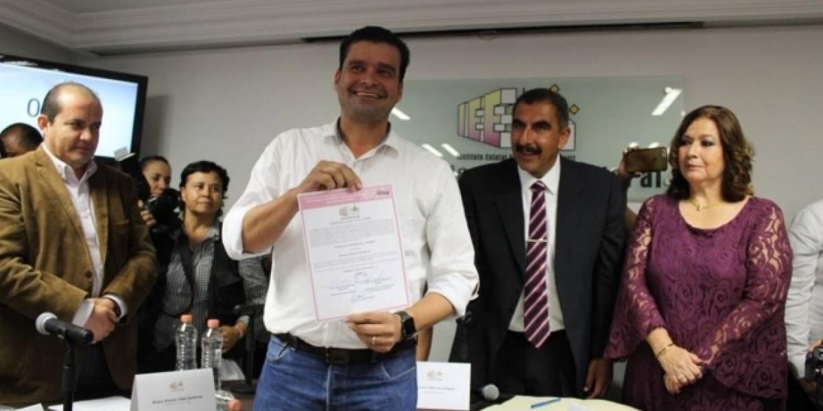 Antonio Echevarría  recibe constancia de mayoría como gobernador electo de Nayarit