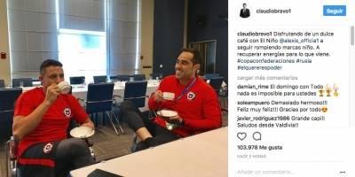 Claudio y Alexis disfrutan su amistad en Rusia