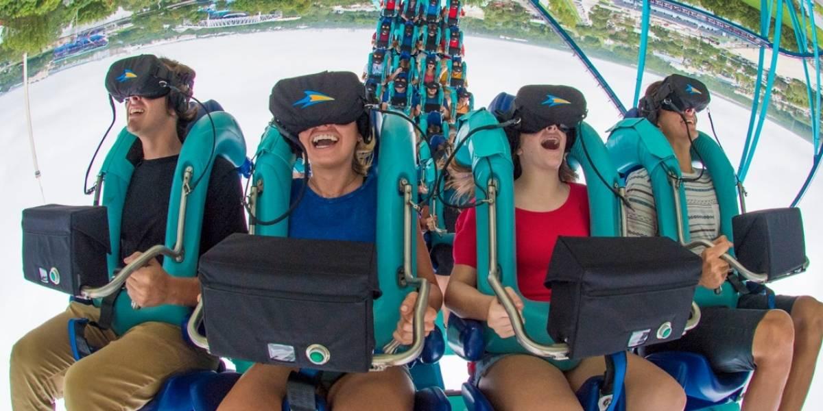 Emoción y adrenalina así es la experiencia en Kraken Unleashed, la montaña rusa con realidad virtual