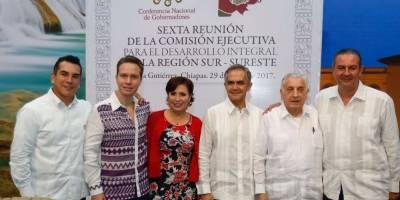 Se realiza en Chiapas reunión de gobernadores del sur-sureste