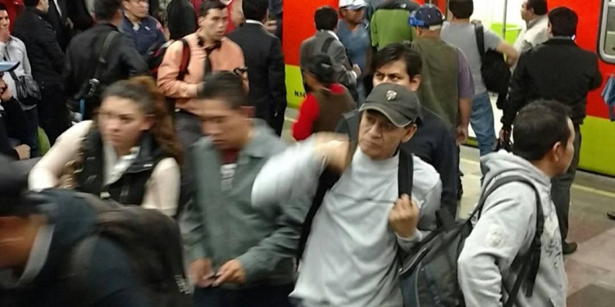 Continúan fallas en Línea 7 del Metro; hay servicio provisional