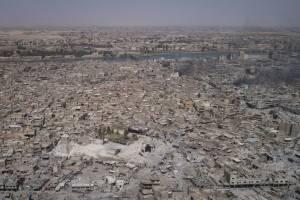 Vista aérea de Mosul, en Irak