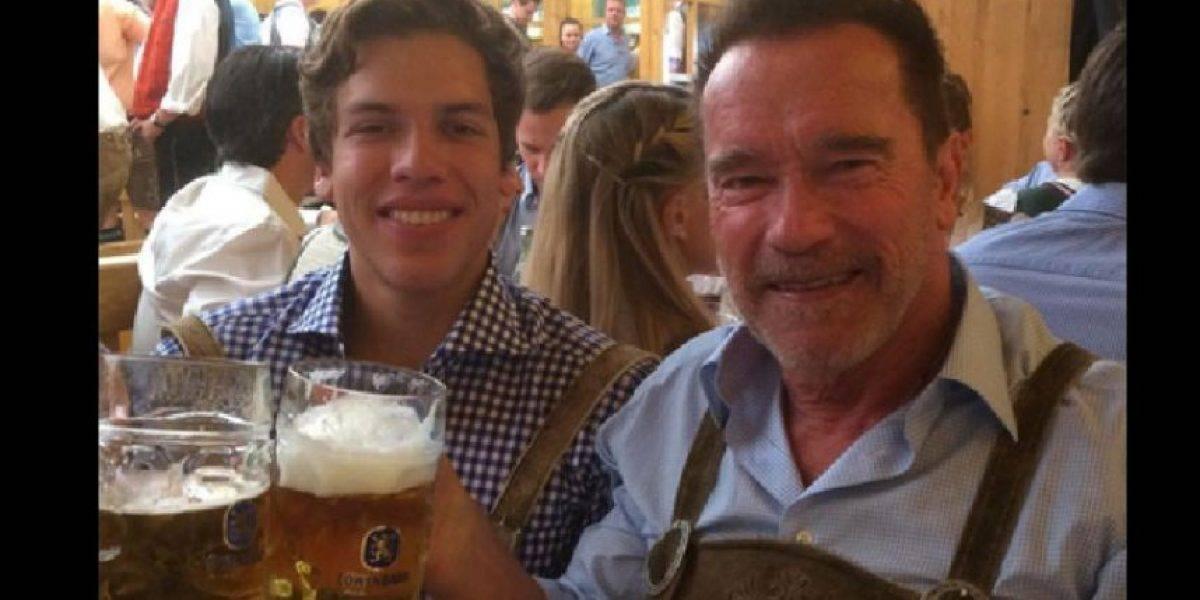 El hijo de Arnold Schwarzenegger con una guatemalteca muestra su atlética figura
