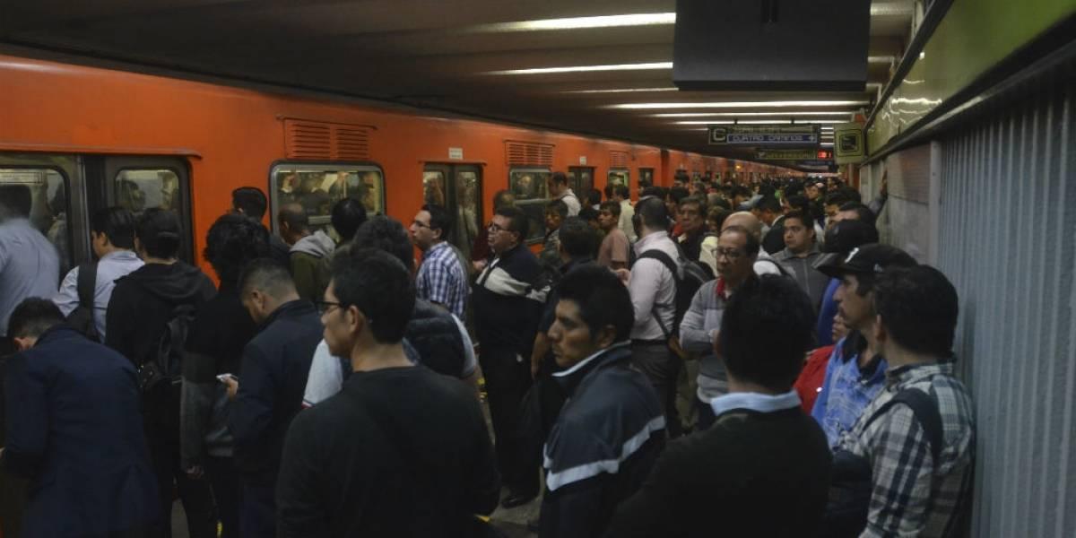 Por lluvias, disminuyen marcha de trenes en 10 líneas del Metro