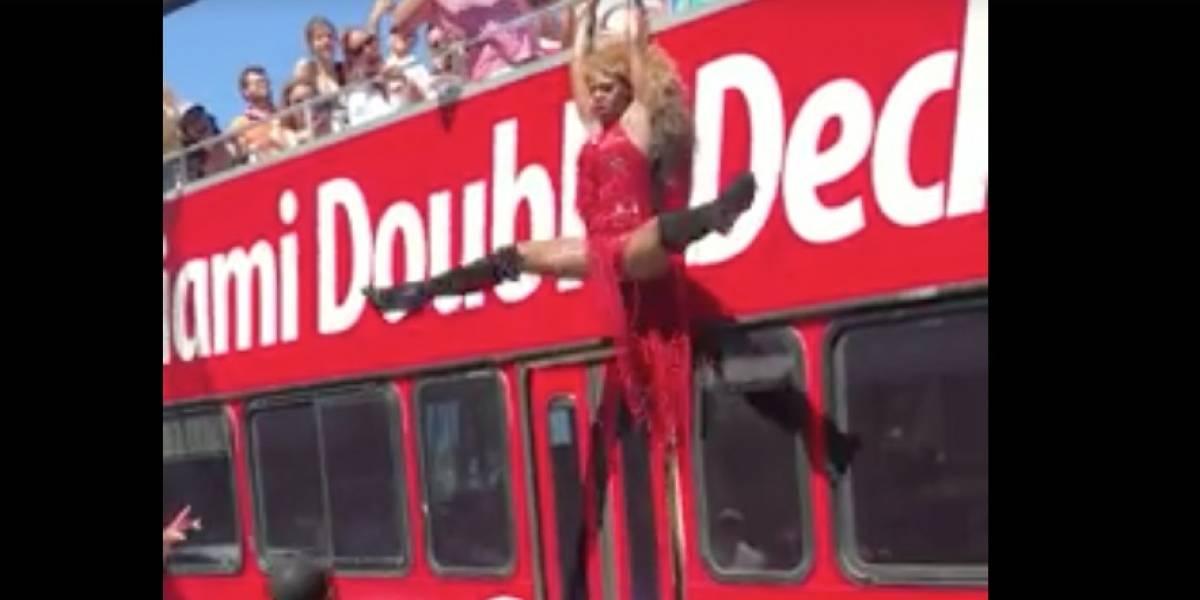 Draga boricua realiza asombroso salto mortal en Miami