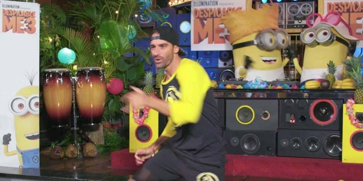 De coreógrafo Toni Costa con los Minions