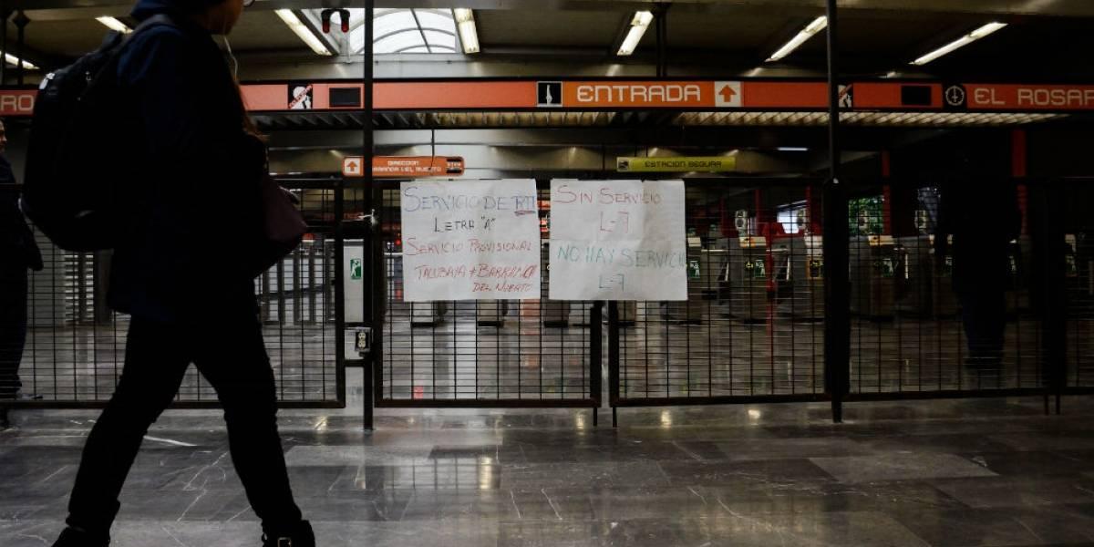 Tras 22 horas se restablece servicio en Línea 7 del Metro
