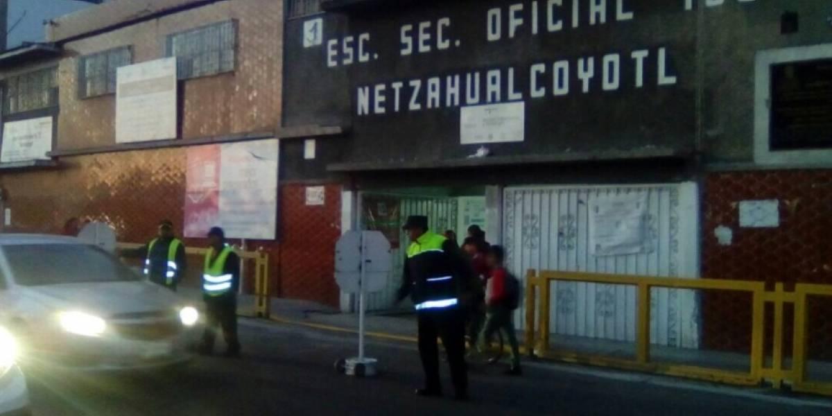 CES realiza operativos de seguridad en escuelas de Edomex