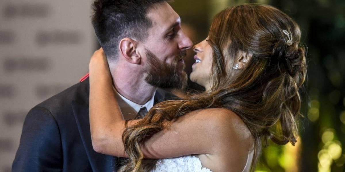 """Lionel Messi dio el """"sí"""" y contrajo matrimonio con Antonella Rocuzzo"""