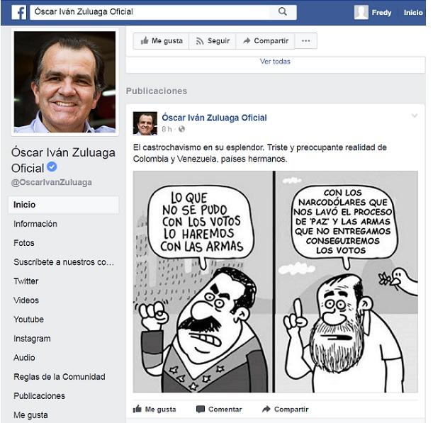 Polémica por manipulación de Óscar Iván Zuluaga a caricatura de Matador