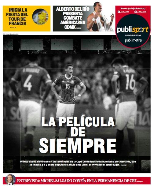 PUBLISPORT Prensa mexicana recrimina humillación del Tri