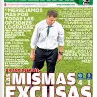 Prensa mexicana recrimina humillación del Tri