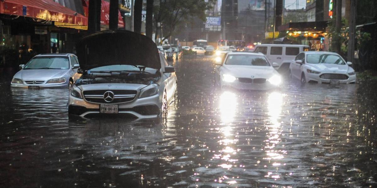 Pronostican otro día de tormentas muy fuertes en la Ciudad de México