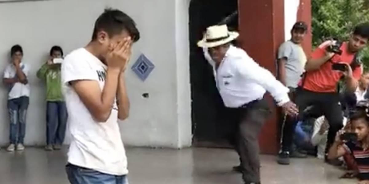 VIDEO. Aplican castigo maya a ladrón de celulares en Quiché