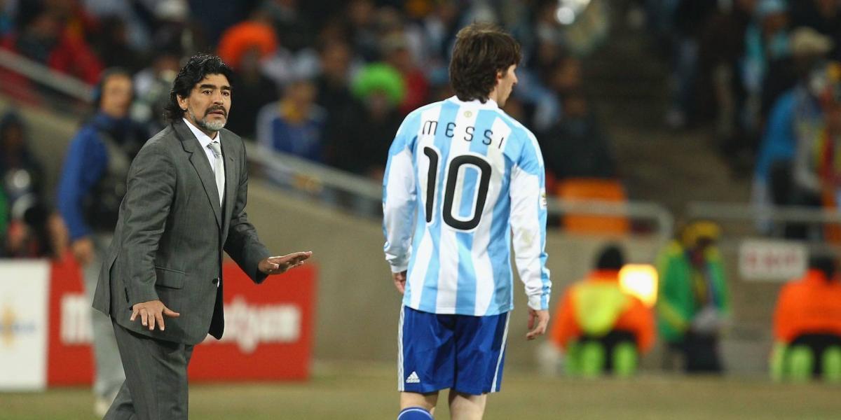 Maradona felicita a Messi aunque no lo haya invitado a su boda