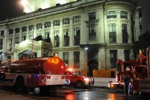 Incendio en el Palacio de Bellas Artes