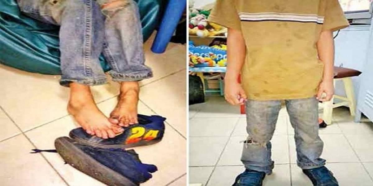 Rescatan en Coyoacán a dos niños en total abandono