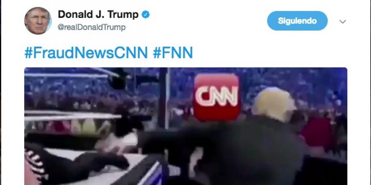 Donald Trump publica video 'golpeando' a CNN al estilo WWE