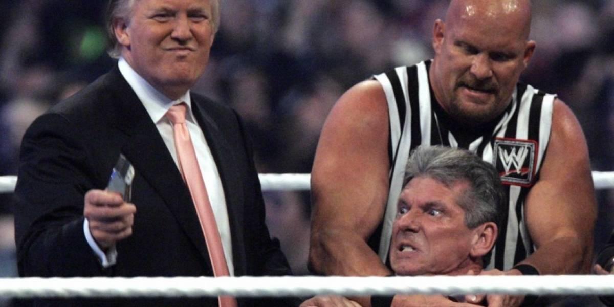 """VIDEO. Trump compartesu aparición en la lucha librey """"golpea""""a CNN"""