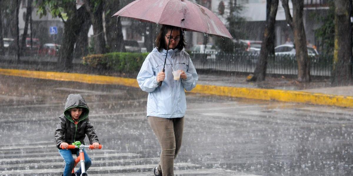 Tormentas muy fuertes, pronostico del clima en la CDMX