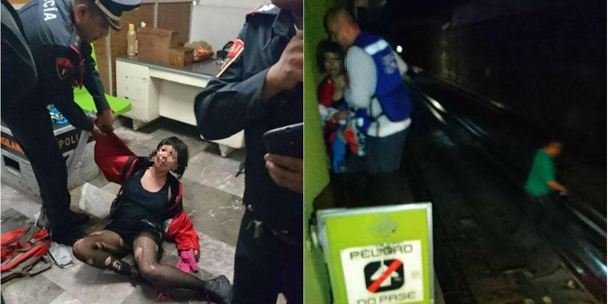 Suspenden servicio de Línea 3 del Metro por adolescente alcoholizada que bajó a las vías