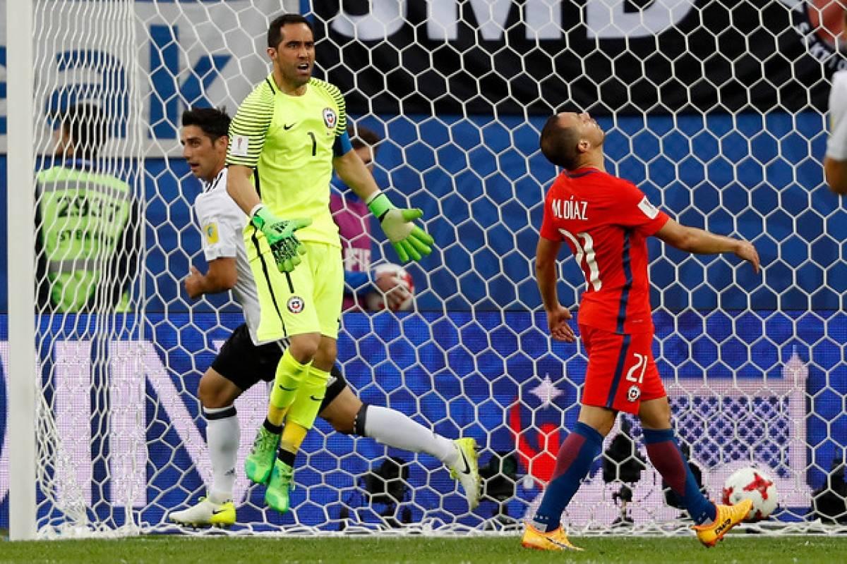 El lamento de Díaz en el 1-0 de Alemania / Photosport