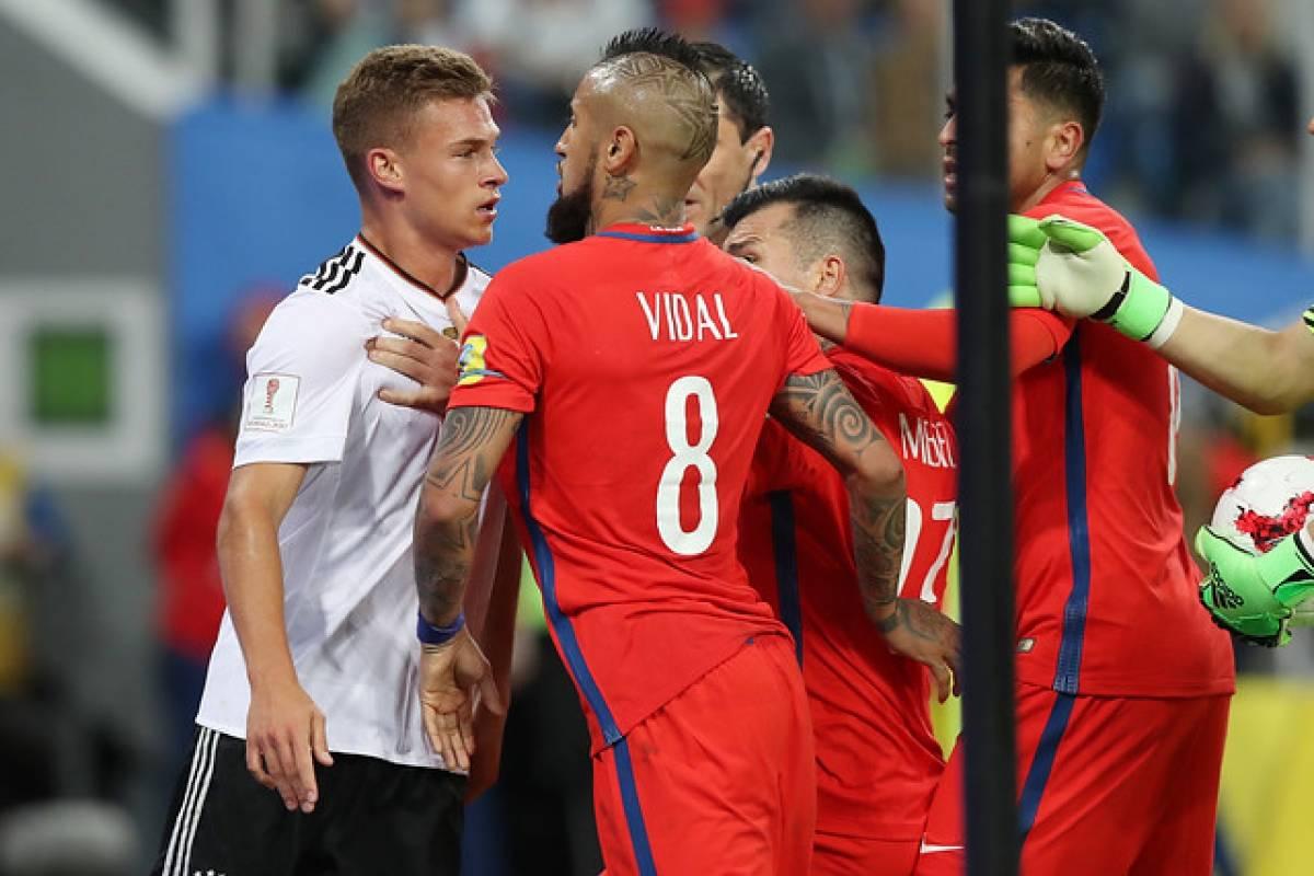 La trifulca entre Kimmich y Vidal / AFP