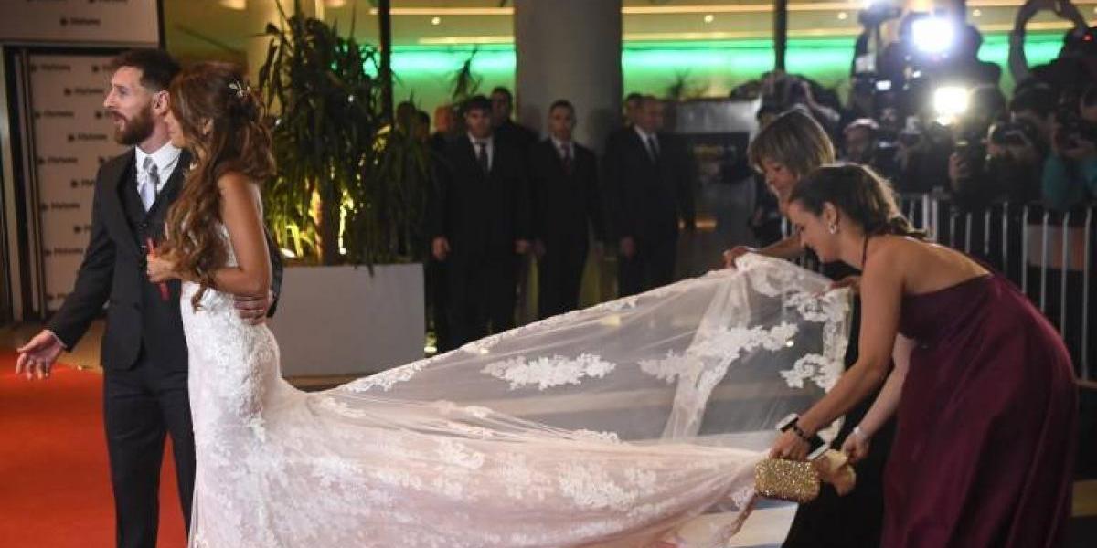 FOTO. Antonella Roccuzzo tuvo un detalle en los zapatos de su boda que nadie notó