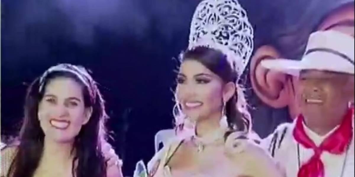 """Reina de belleza sufrió """"fallo de vestimenta"""" en el Reinado del Folclor de Ibagué"""