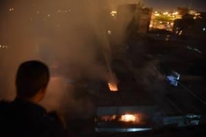 Incendio en La Terminal, zona 4