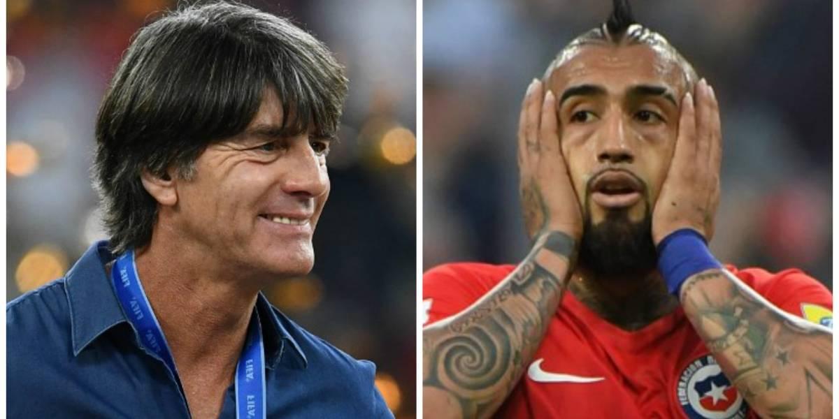 Joachim Löw le responde a Vidal tras ganarle la final a Chile