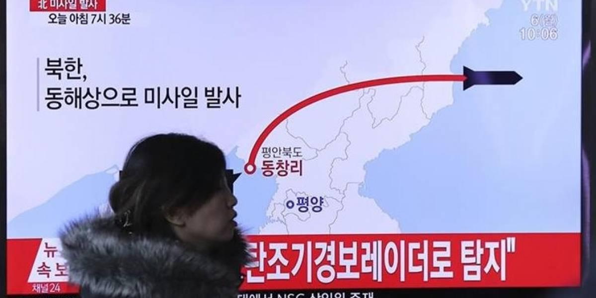 Norcorea lanza nuevo misil balístico hacia Japón, según Corea del Sur