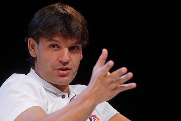 Fernando Morientes durante una actividad como embajador de La Liga / Photosport