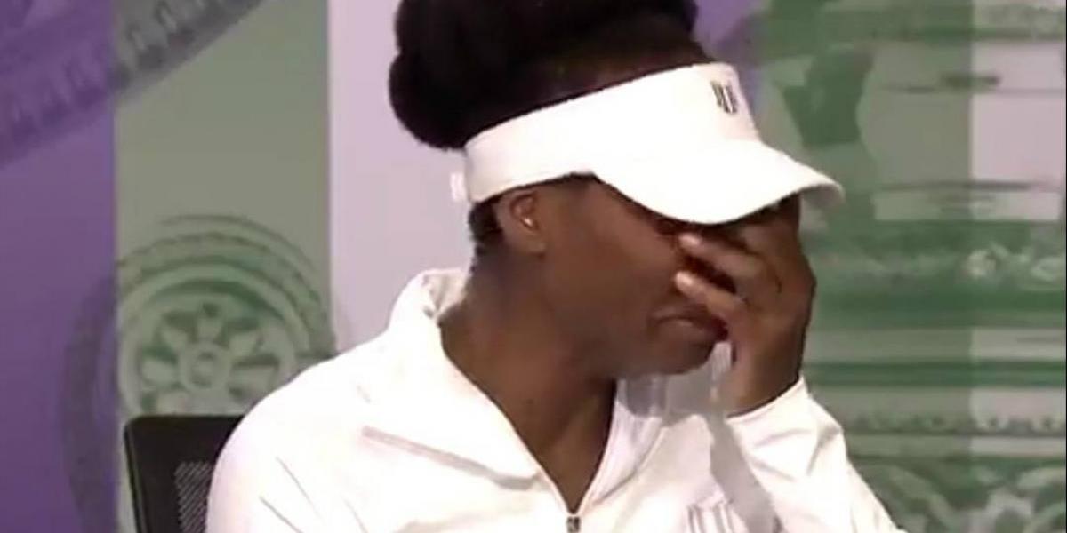 Venus Williams cae en llanto en Wimbledon al hablar del fatal accidente en el que estuvo involucrada