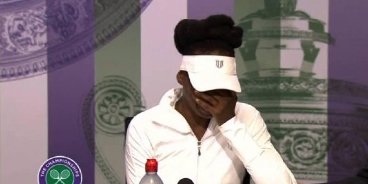 VIDEO: Venus Williams rompe en llanto tras recordar trágico accidente