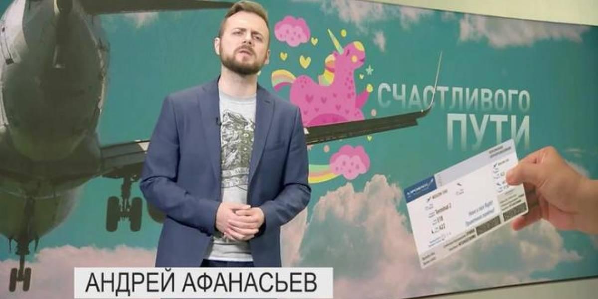 """""""Que tengan un buen viaje, pervertidos"""": Una televisora rusa regala billetes a los gays para que abandonen el país"""