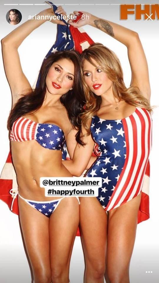 Arianny Celeste y Brittney Palmer Instagram