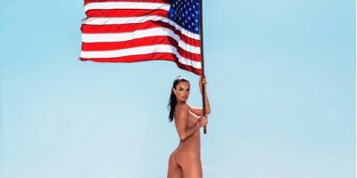 Alessandra Ambrosio celebra independencia de EU con desnudo... ¡Y escandaliza la red!