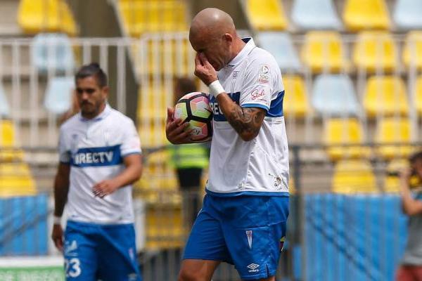 Santiago Silva jugó 17 partidos y marcó 5 goles con la UC durante el primer semestre de 2017 / Agencia UNO