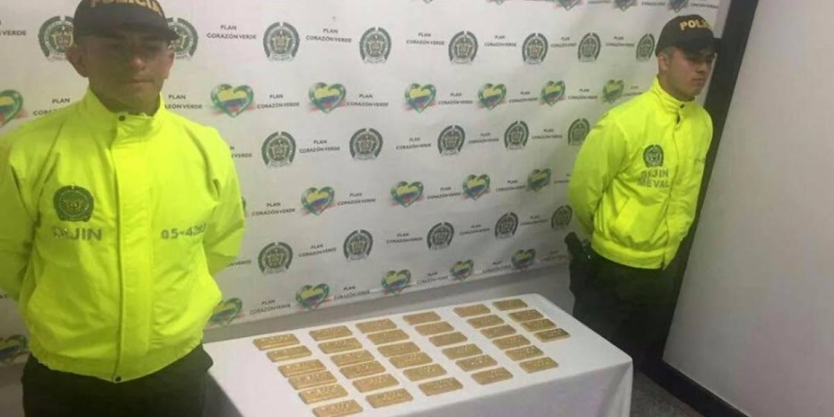 Incautaron en Medellín 34 lingotes de oro valorados en más de 4 mil millones de pesos