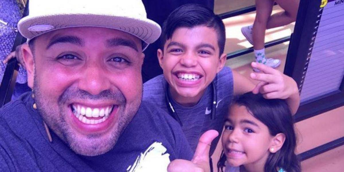 Molusco disfruta con sus hijos en Las Vegas