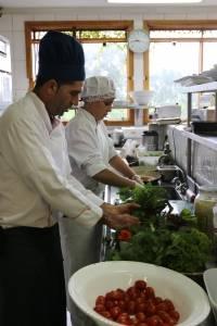 Cozinha chef orgânicos