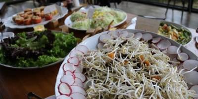Alimentação orgânica salada