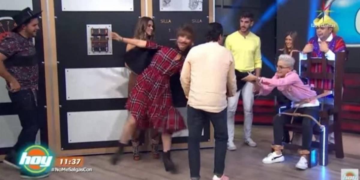 Maca Carriedo jaloneó a Natalia Tellez en pleno programa en vivo