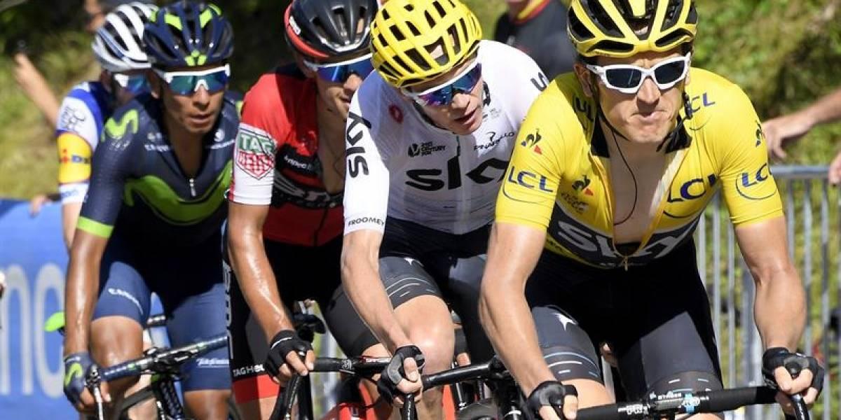 Nairo perdió tiempo en el primer ascenso del Tour de Francia, y Froome ya es líder