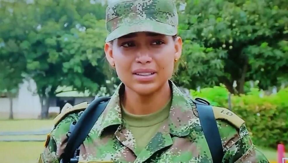 Exreina Andrea Tovar tuvo que abandonar Soldados 1.0 y sus superiores la hicieron llorar (Video)
