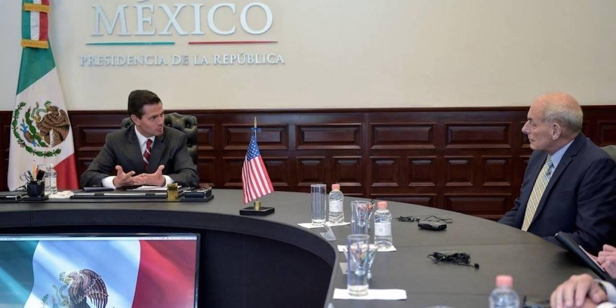 Peña Nieto y John Kelly coinciden en trabajar juntos contra el crimen organizado