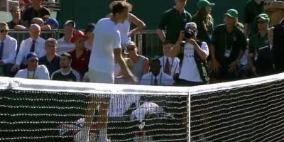 Insólita reacción de un tenista ruso en Wimbledon